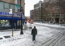 Schnee in Tribeca Lizenzfreies Stockbild