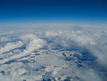 Schnee umfaßte Landschaft Lizenzfreies Stockbild