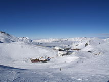 Schnee umfaßte mounatins Lizenzfreie Stockfotografie