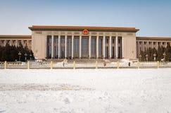 Schnee umfaßte Tiananmen-Platz Lizenzfreies Stockfoto