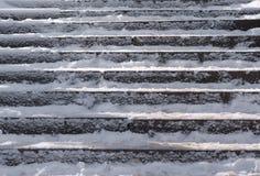 Schnee umfasste Treppenkastenzusammensetzung Lizenzfreies Stockfoto