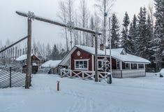 Schnee und Eis von sch?nem Karelien lizenzfreie stockfotos