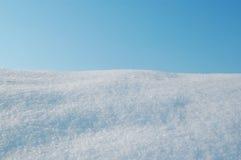 Schnee und Himmel Stockfoto