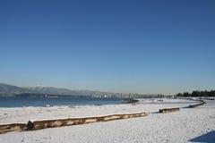 Schnee und Sand Stockfoto