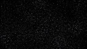 Schnee und Schneeflocken, die unten fallen Viele unterschiedlich lizenzfreie abbildung