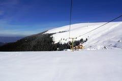 Schnee und und Himmel Lizenzfreie Stockfotografie