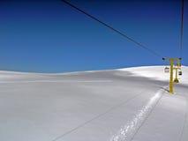 Schnee und und Himmel Stockfotos