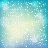 Schnee und weicher Höhepunkthintergrund. Stockfotografie