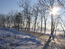 Schnee und Wolken stockfotografie