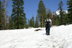 Schnee-Wanderer - Hinweissymbol-Haube Stockbilder