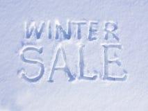 Schnee-Winter-Verkauf Lizenzfreie Stockfotos