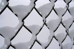 Schnee-Zaun Lizenzfreie Stockbilder