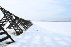 Schnee-Zaun. Lizenzfreie Stockfotografie