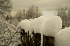 Schnee-Zaun Lizenzfreies Stockfoto