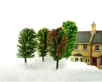 Schnee zu Hause Lizenzfreies Stockfoto