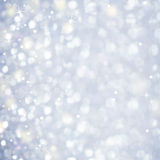 Schnee-Zusammenfassung - funkelndes magisches Licht und Sterne Sparcles Stockbilder