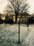 Schneeabend Stockfoto