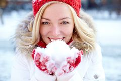 Schneeanmut Lizenzfreies Stockfoto