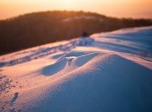 Schneeantrieb lizenzfreie stockfotografie