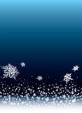 Schneeantrieb Stockbild
