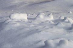 Schneeantrieb Stockfoto