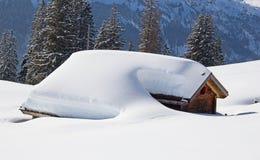 Schneeantriebe Stockfotos