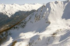 Schneearena Stockbild
