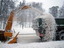 Schneeausbau lizenzfreie stockfotografie