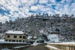 schneebedeckt stockbild