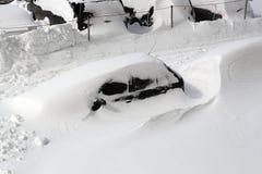 Europa unter dem Schnee. Lizenzfreies Stockfoto