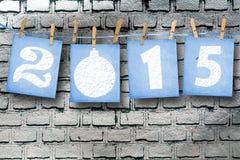 Schneebedeckte Papierzahlen von neuem 2015 Lizenzfreies Stockbild