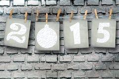 Schneebedeckte Papierzahlen von neuem 2015 Stockbild