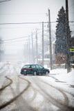 Schneebedeckte Straße Stockbild