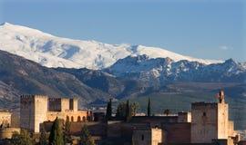 Schneebedeckter Berg Granadas Stockfotos