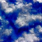 Schneebedeckter Hintergrund des abstrakten Winters Lizenzfreies Stockfoto