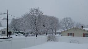 schneebedeckter Tag Lizenzfreies Stockfoto