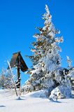 Schneeberg, Austria, Winter scene Stock Photography