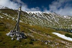 Schneeberg in Oostenrijkse Alpen Royalty-vrije Stock Fotografie