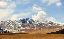 Schneeberg in Tibet Stockbild