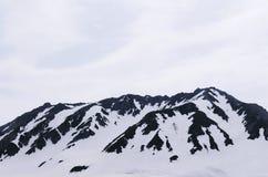 Schneeberg von Japan-Alpen, Tateyama Kurobe alpin an Murodo St. lizenzfreies stockbild