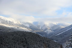 Schneeberge Stockbild