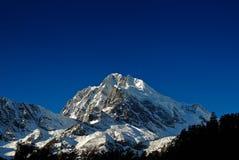 Schneeberge Stockfoto