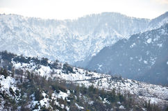 Schneeberge von Georgia Stockfoto