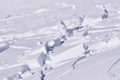 Schneeblöcke Stockfotos