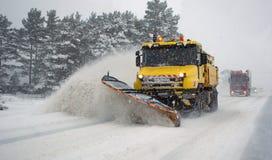 Schneeblizzard Stockfoto