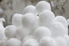 Schneebälle Stockfoto