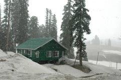 Schneefälle bei Kaschmir Stockfotografie
