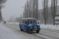 Schneefälle in Kiew. Lizenzfreies Stockfoto