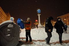 Schneefälle in Kiew. Lizenzfreie Stockfotografie