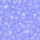 schneefälle Nahtloses Muster Stockfotos